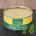 Lot de 4 boites de rillettes pur canard - 4 x 250 g