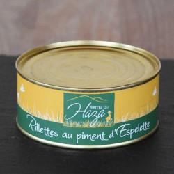 Rillettes de canard au piment d'Espelette - 250 g