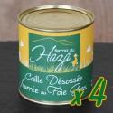 Lot de 4 boites de caille fourrée au foie gras